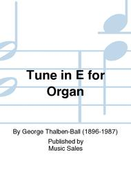 Tune in E for Organ