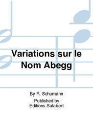Abegg Variationen Opus 1
