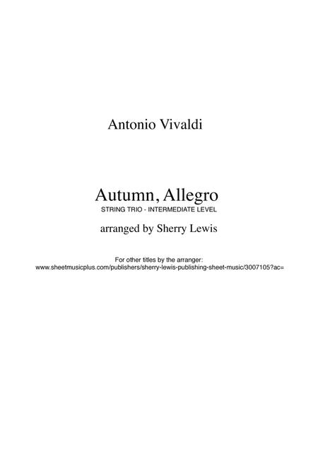 Autumn from The Four Seasons for STRING TRIO
