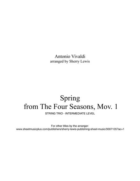 Spring STRING TRIO (for string trio)