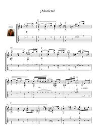 Marieta by Tarrega Guitar solo
