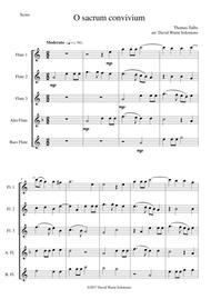 O Sacrum Convivium for flute quintet