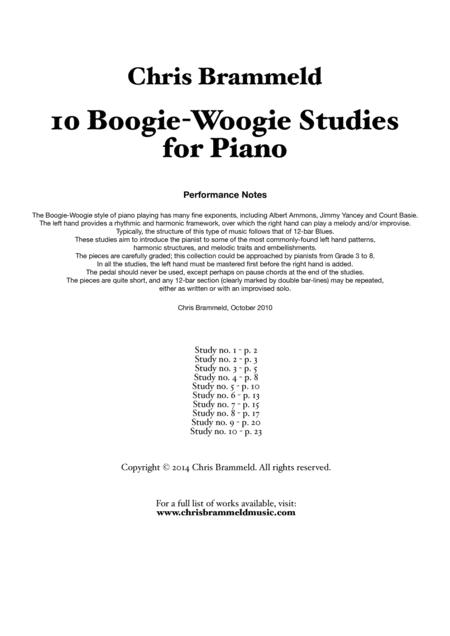 Ten Boogie-Woogie Studies for Piano