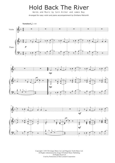 Download Hold Back The River Violin And Piano