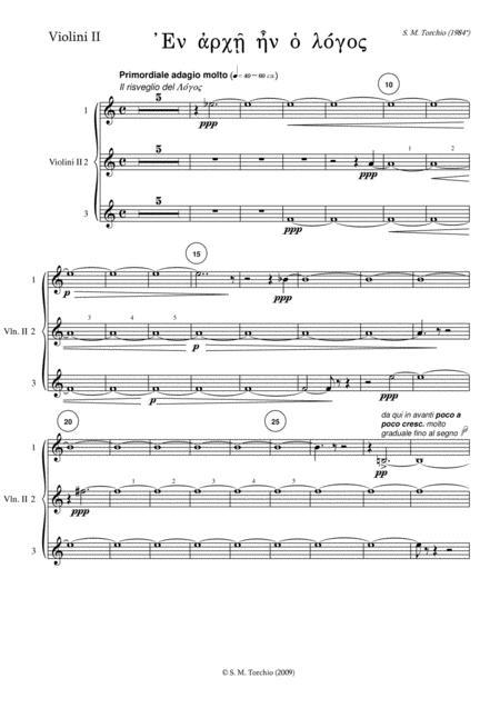 Stefano Maria Torchio: En Archè en o Logos - Violin 2 part