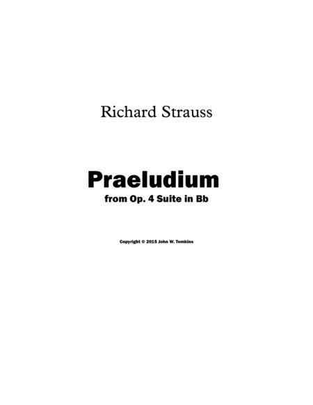 Praeludium from Op. 4 Suite, arranged for Wind Quintet