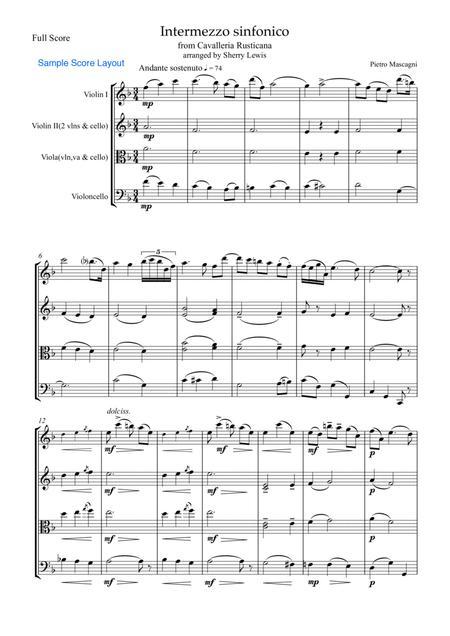 Intermezzo Sinfonico from Cavalleria Rusticana for STRING TRIO