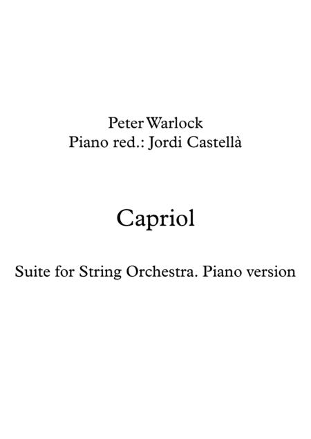 Capriol Suite, Piano version