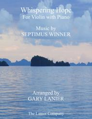 WHISPERING HOPE (Duet – Violin & Piano with Score/Part)