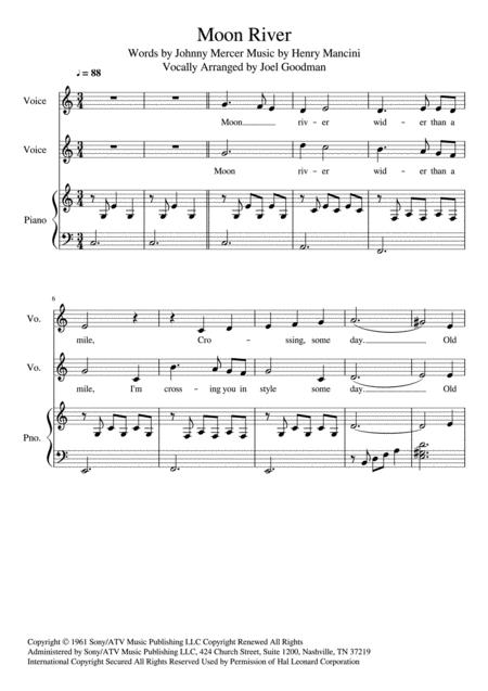 Moon River - Vocal Duet