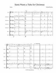 Santa Wants A Tuba For Christmas - Tuba/Euphonium Ensemble