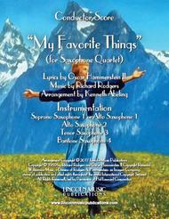 My Favorite Things (for Saxophone Quartet SATB or AATB)