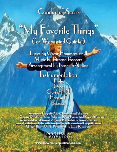 My Favorite Things (for Woodwind Quintet)