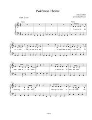 Download Pokémon Theme Song - EASY PIANO Sheet Music By