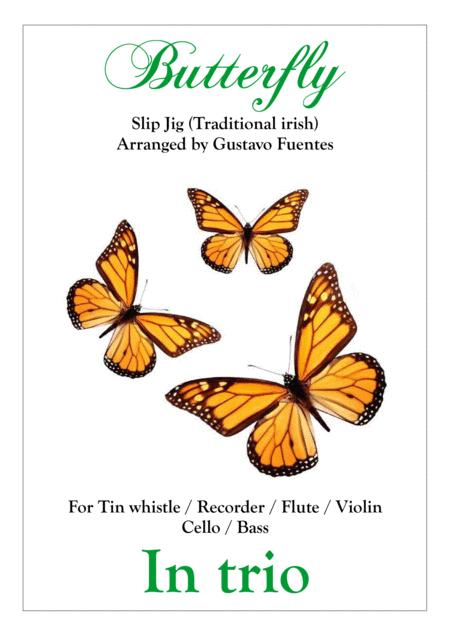 Butterfly, slip jig in trio, Celtic song, Arranged by Gustavo Fuentes