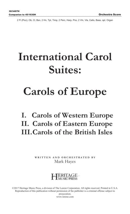 International Carol Suites: Carols of Europe - Orchestra Score