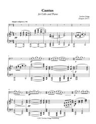 Cantus for Cello and Piano