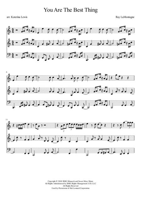 You Are The Best Thing (Violin 1, Violin 2, Cello)