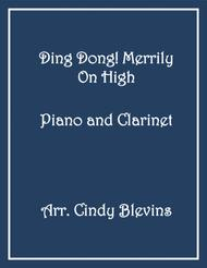 Ding! Dong! Merrily on High, arranged for Piano and Bb Clarinet