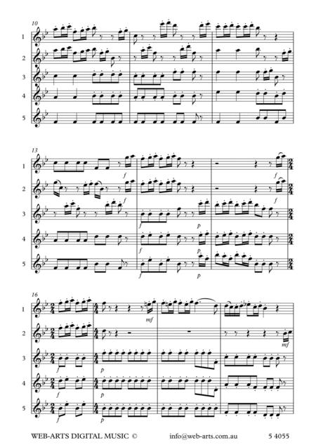 Preview BEETHOVEN Symphony No 8 Op 93 2nd Mvt For 5 Flutes By