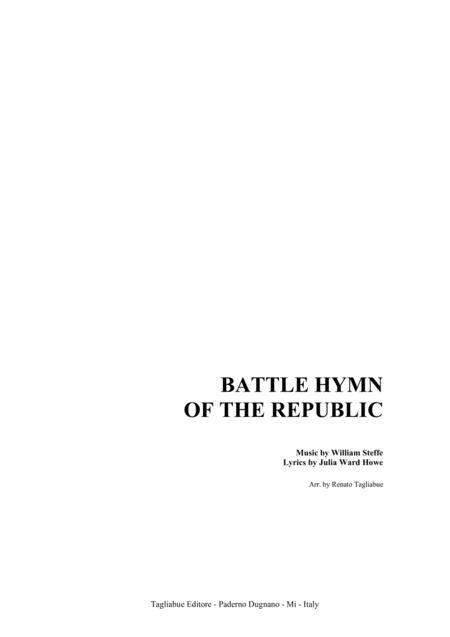 BATTLE HYMN OF THE REPUBLIC - For SATB Choir