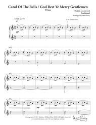 Carol of the Bells / God Rest Ye Merry Gentlemen - One Piano, Four hands