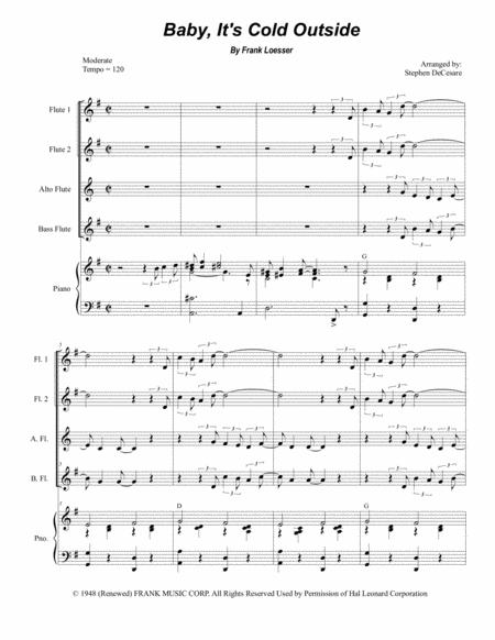 Baby, It's Cold Outside (for Flute Choir)