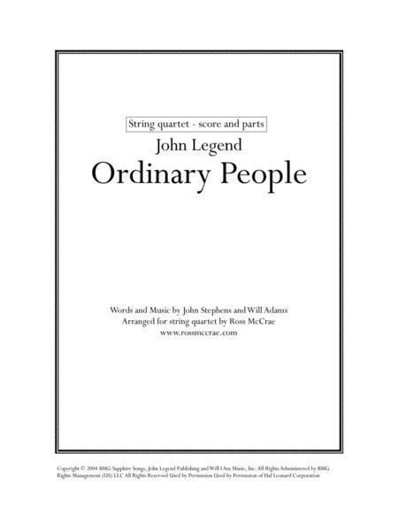 Ordinary People (String Quartet)