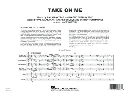 Take on Me - Conductor Score (Full Score)