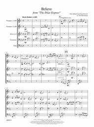 Believe from Polar Express - Brass Quintet