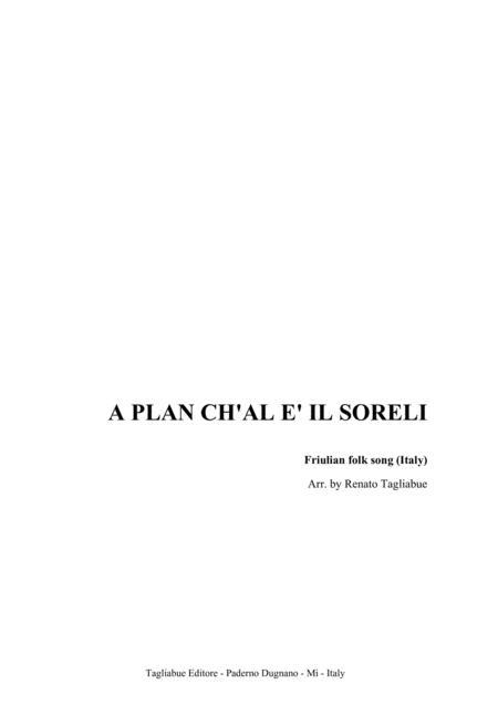 A PLAN CH'AL E' IL SORELI - (In the plain sun sets) - Friulian folk song (Italy)