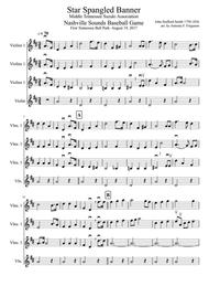 Star Spangled Banner for 4 part Violin Group (all levels)