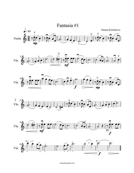 Fantasia #1+ Preparatory Exercises, early intermediate level.