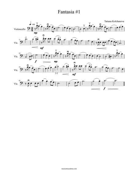 Fantasia #1+ Preparatory Exercises, early intermediate level.