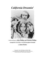 California Dreamin' (saxophone ensemble version)
