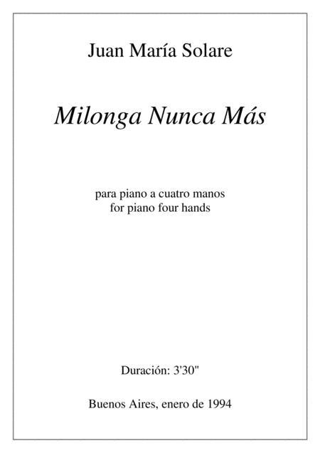 Milonga Nunca Más [piano 4 hands]