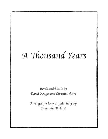 A Thousand Years - Harp Solo