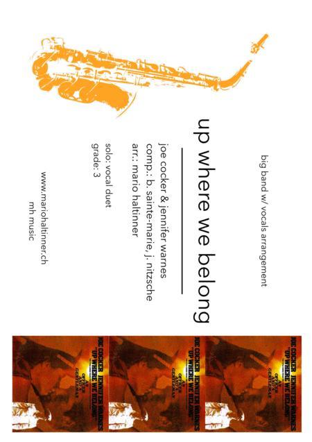 Up Where We Belong - Joe Cocker & Jennifer Warnes - Jazz Ensemble w/ vocals - score & parts