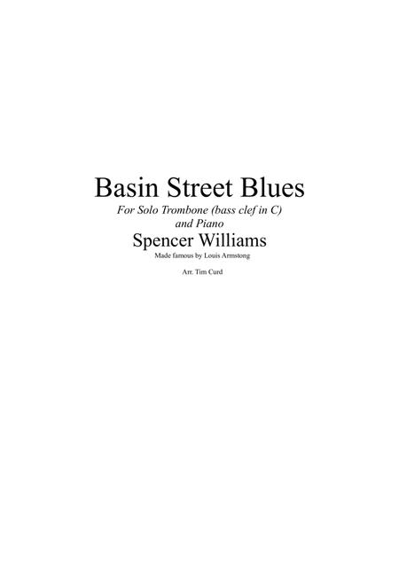 Basin Street Blues. For Solo Trombone in C and Piano