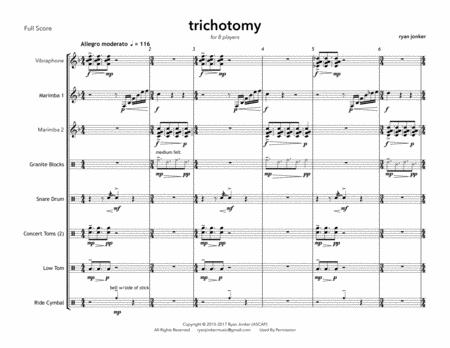 Trichotomy (percussion ensemble for 8 players)