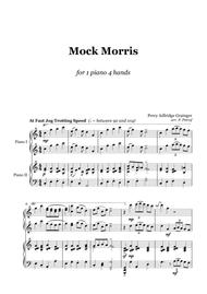 Percy Grainger - Mock Morris  - 1 piano 4 hands
