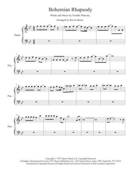 All I Want For Christmas Is You Piano Sheet Music With Letters.Bohemian Rhapsody Original Key Piano By Queen Digital