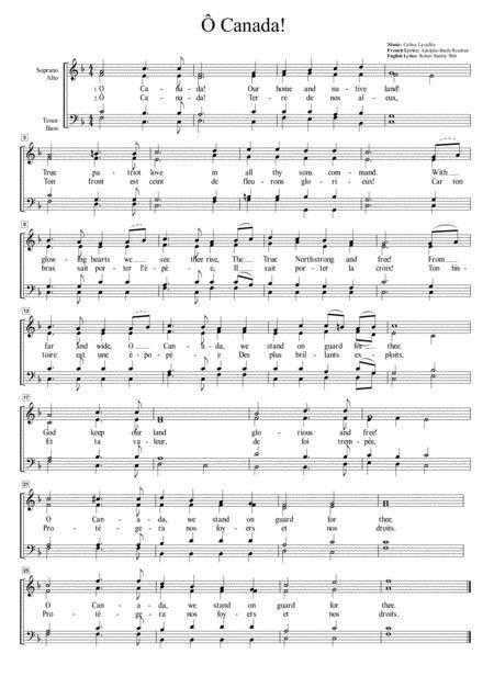 O Canada (Bilingual Version) for SATB Choir