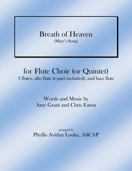 Breath Of Heaven (Mary's Song) for Flute Choir