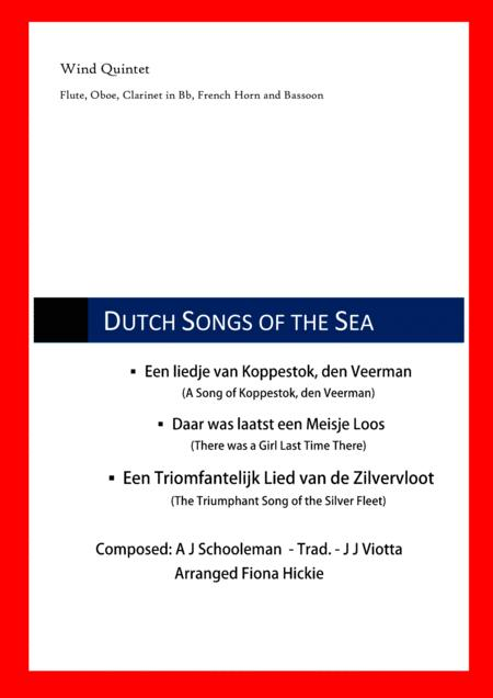 Download 3 Dutch Songs Of The Sea Sheet Music By A J Schooleman