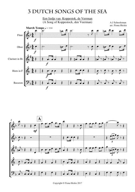 Preview 3 Dutch Songs Of The Sea By A J Schooleman, Traditional, J J
