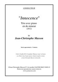 Innocence --- For piano trio --- Score and Parts --- JCM 2012