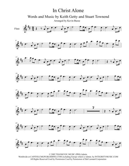 Download In Christ Alone Original Key Flute Sheet Music By