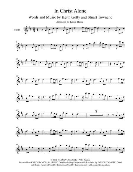 Download In Christ Alone (Original Key) - Violin Sheet Music By ...