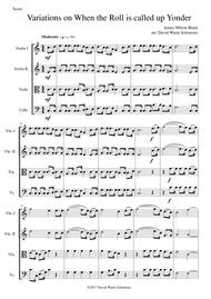 Variations on When the Roll Is Called Up Yonder for string quartet